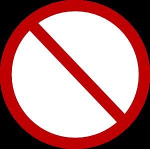 Red No Circle clip art (113711) Free SVG Download / 4 Vector.