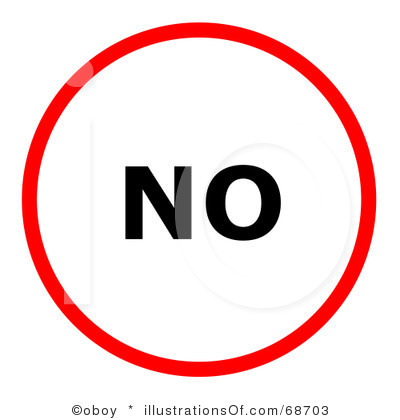 Clip Art Of A Man Saying No Clipart.