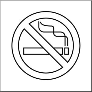 No Smoking Clipart Black And White.