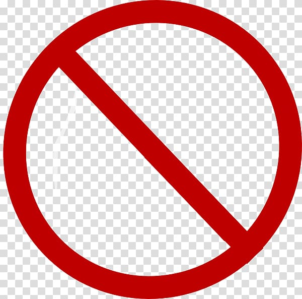 No symbol Sign , red line transparent background PNG clipart.
