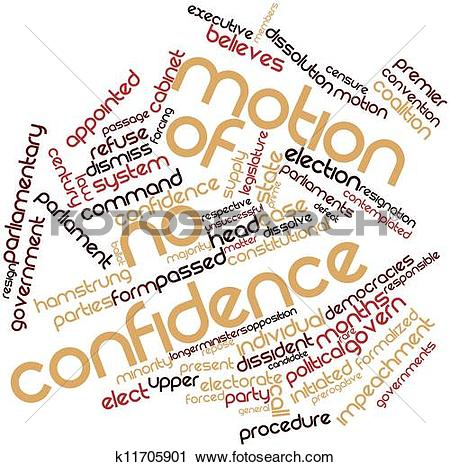 Clipart of Motion of no confidence k11705901.