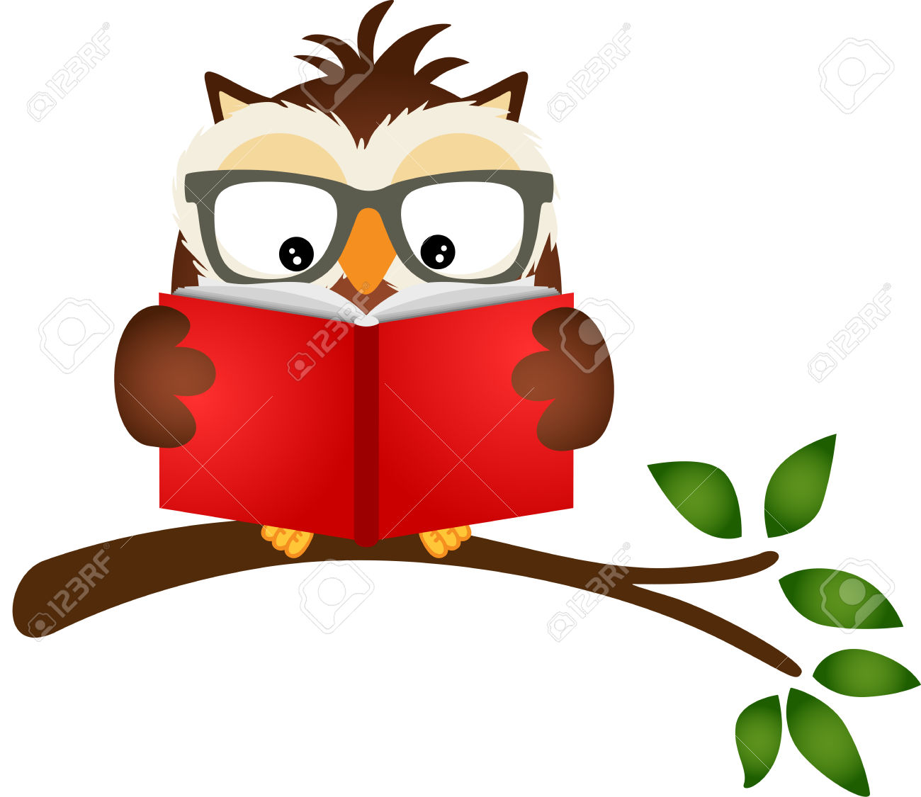 Best Owl Reading Clipart #21045.