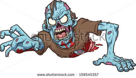 Zombie No Legs Crawling Vector Clip Stock Vector 226855672.
