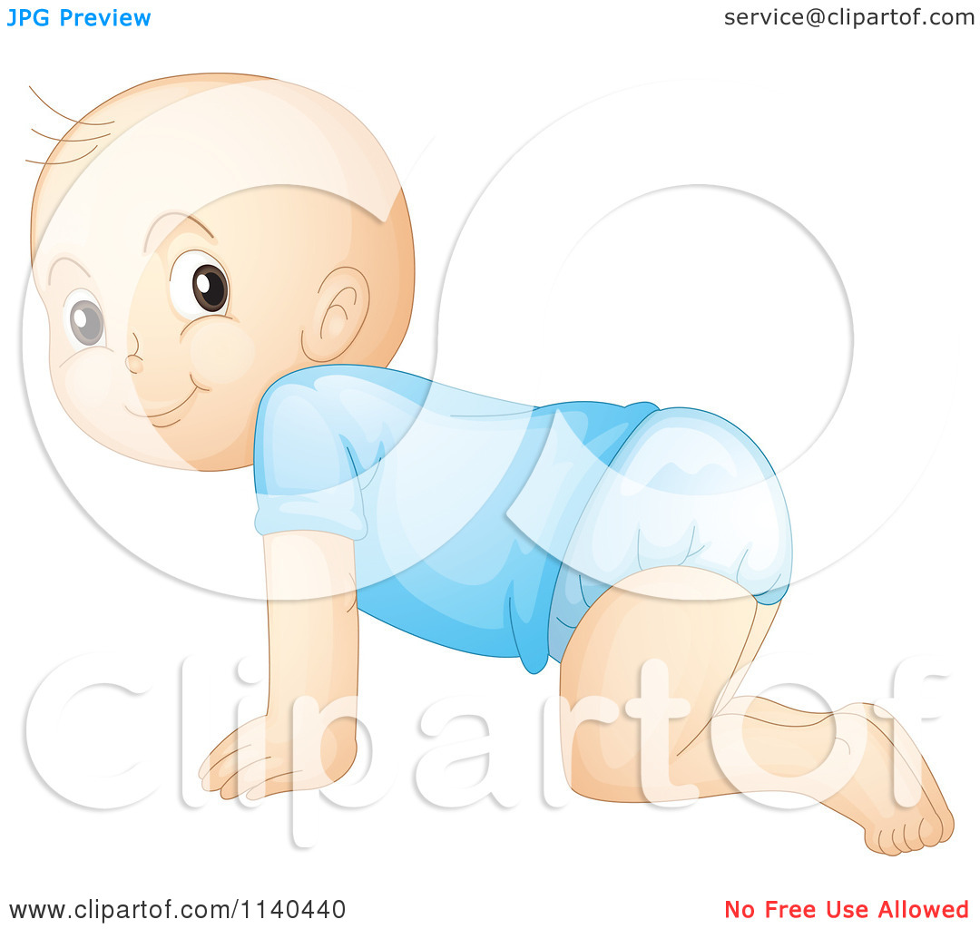 Boy Crawling From Behind Clipart.