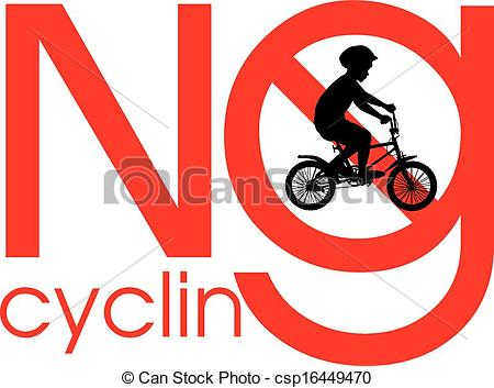 Vectors Illustration of No cycling.