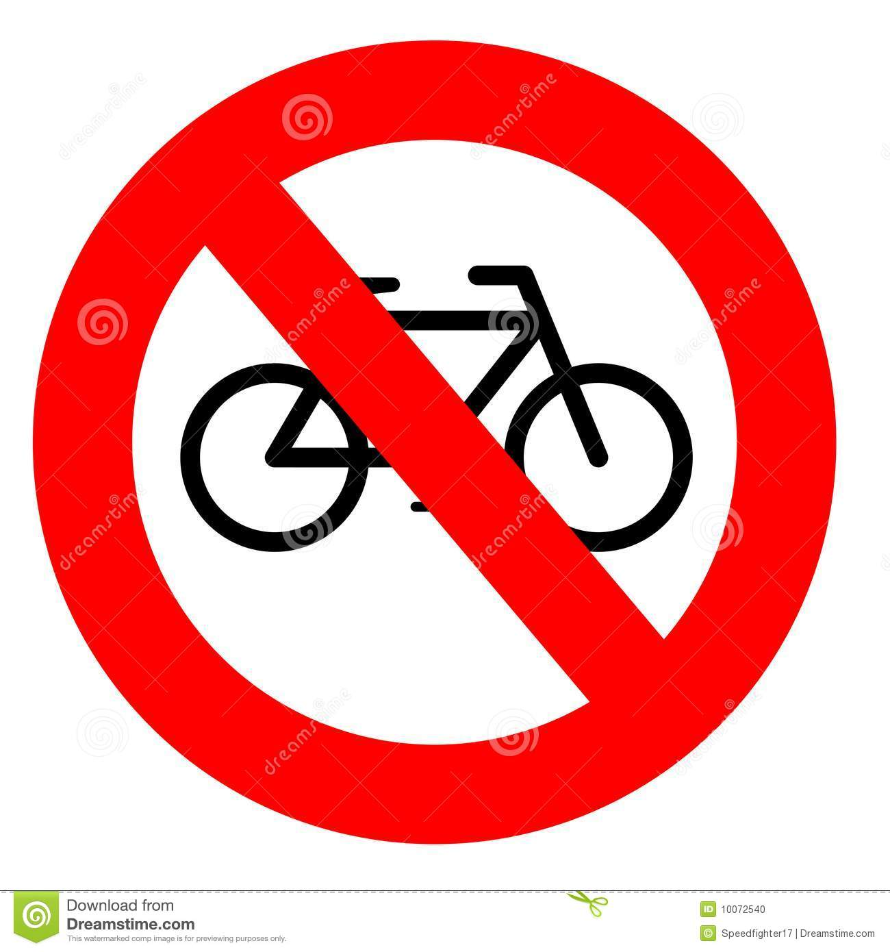 No Cycling Stock Illustrations.