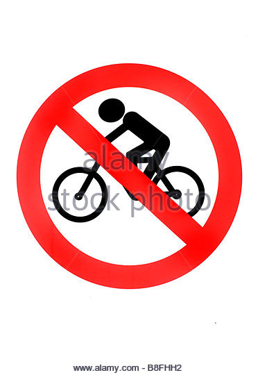 No Cycling Symbol Sign Stock Photos & No Cycling Symbol Sign Stock.