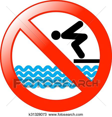 No Diving Clipart.