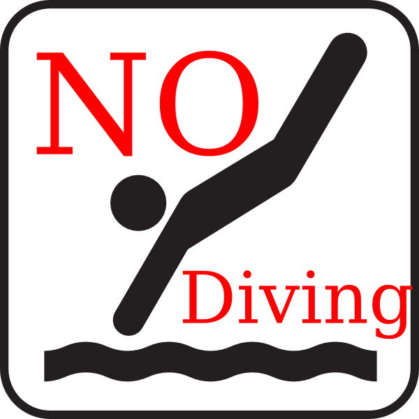 No Diving Clip Art at Clker.com.