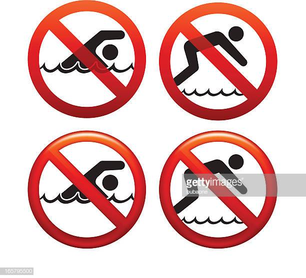 12 No Diving Sign Stock Illustrations, Clip art, Cartoons.