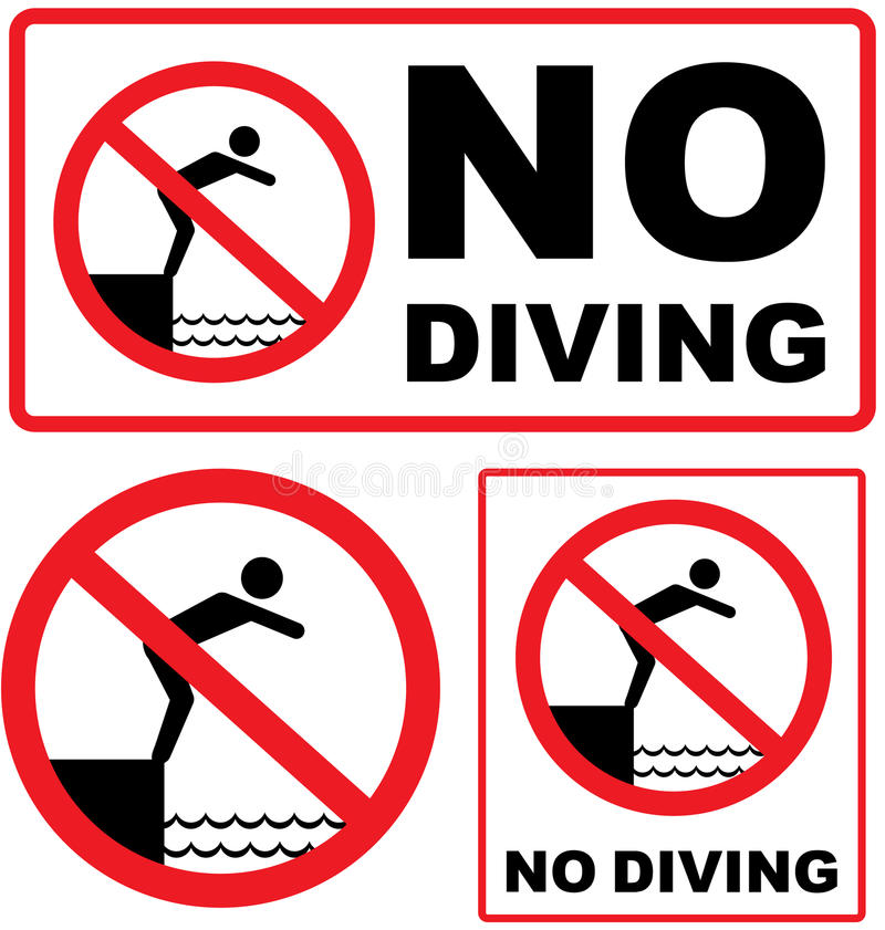 No Diving Stock Illustrations.