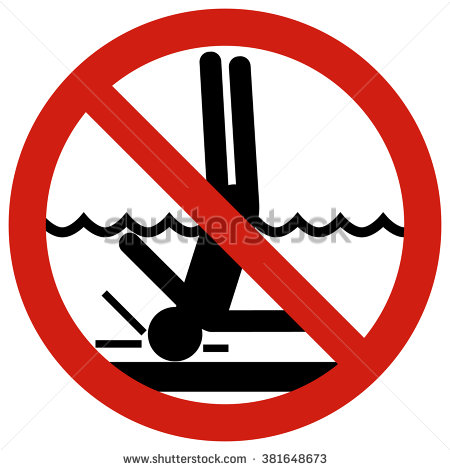 No Diving Clip Art (38 ).
