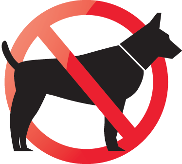 No Dogs Allowed Sign Sticker.