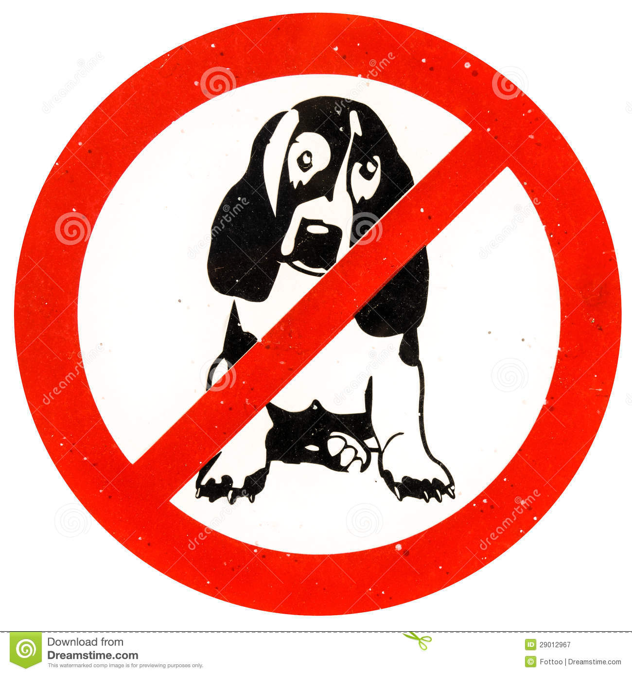 No Dogs Allowed Royalty Free Stock Photography.