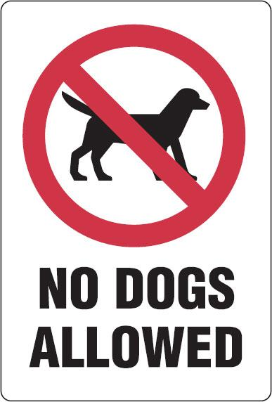 No Dogs Allowed Sign Clipart.
