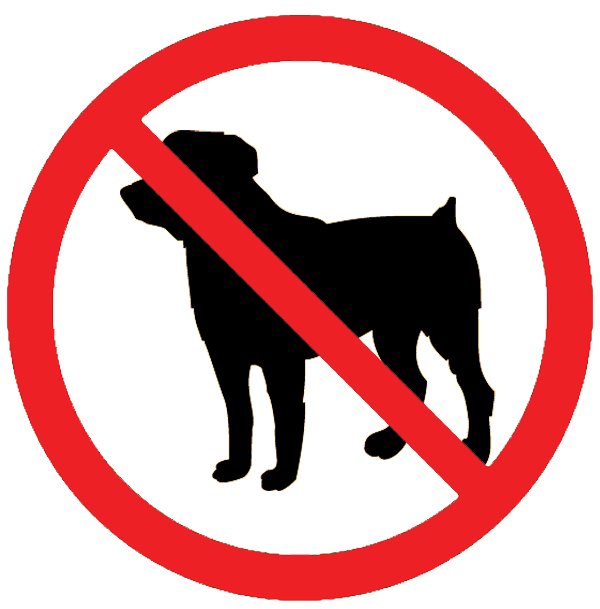 No dogs allowed clipart.