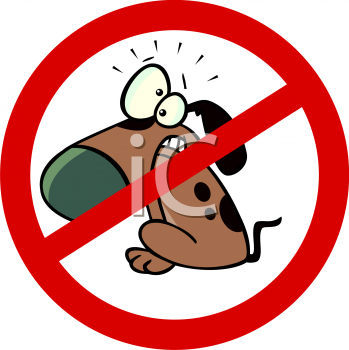 Cartoon Clipart Picture Of A No Dogs Allowed Sign.