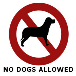"Clipart Picture of a ""No Dogs Allowed""."