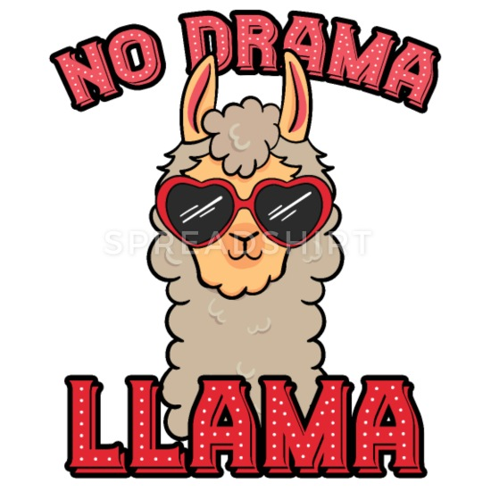 No Drama Llama iPhone X/XS Case.