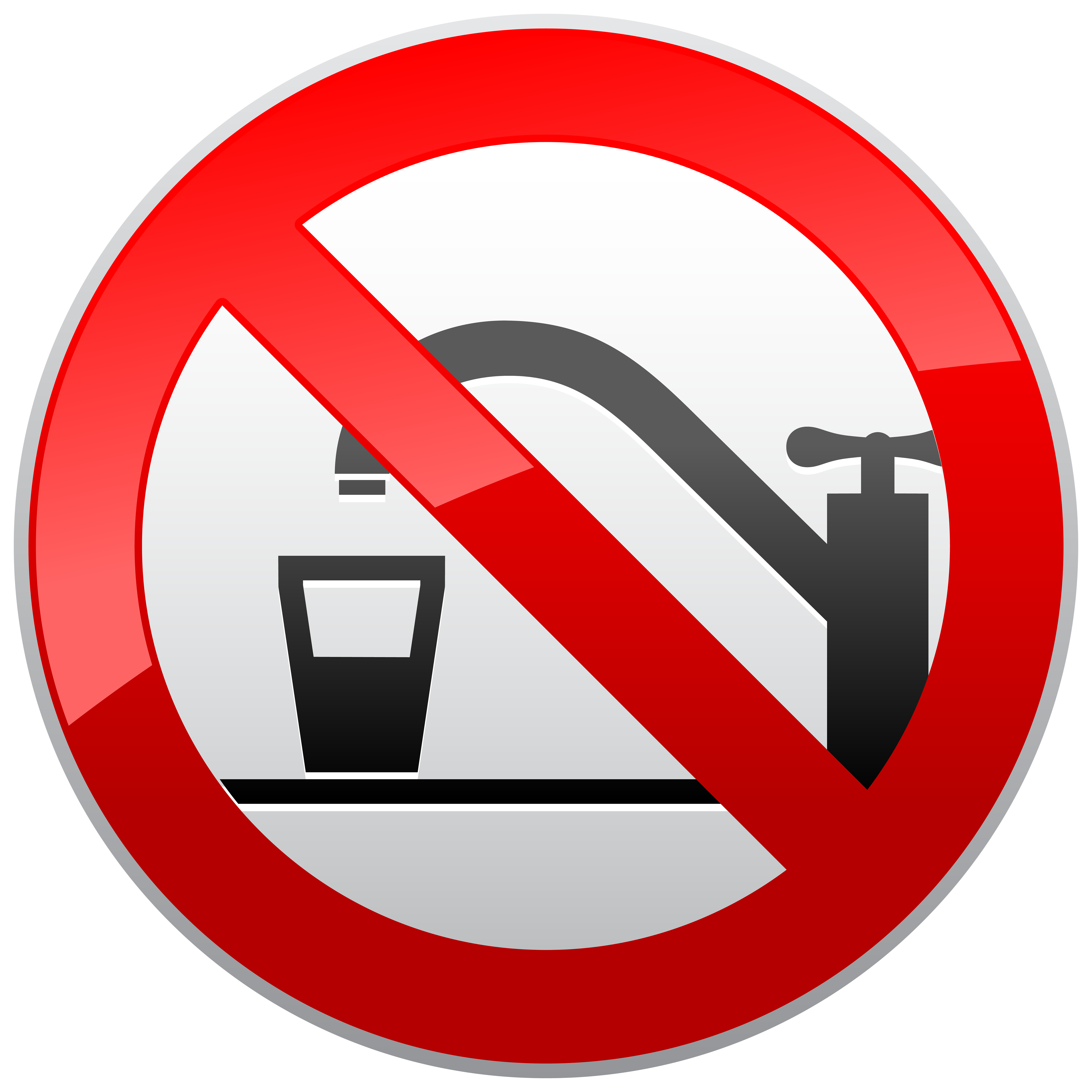 Not Drinking Water Prohibition Sign PNG Clipart.