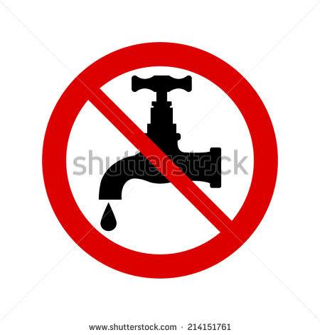 Do Not Drink Water Vector Sign Stock Vector 150581834.