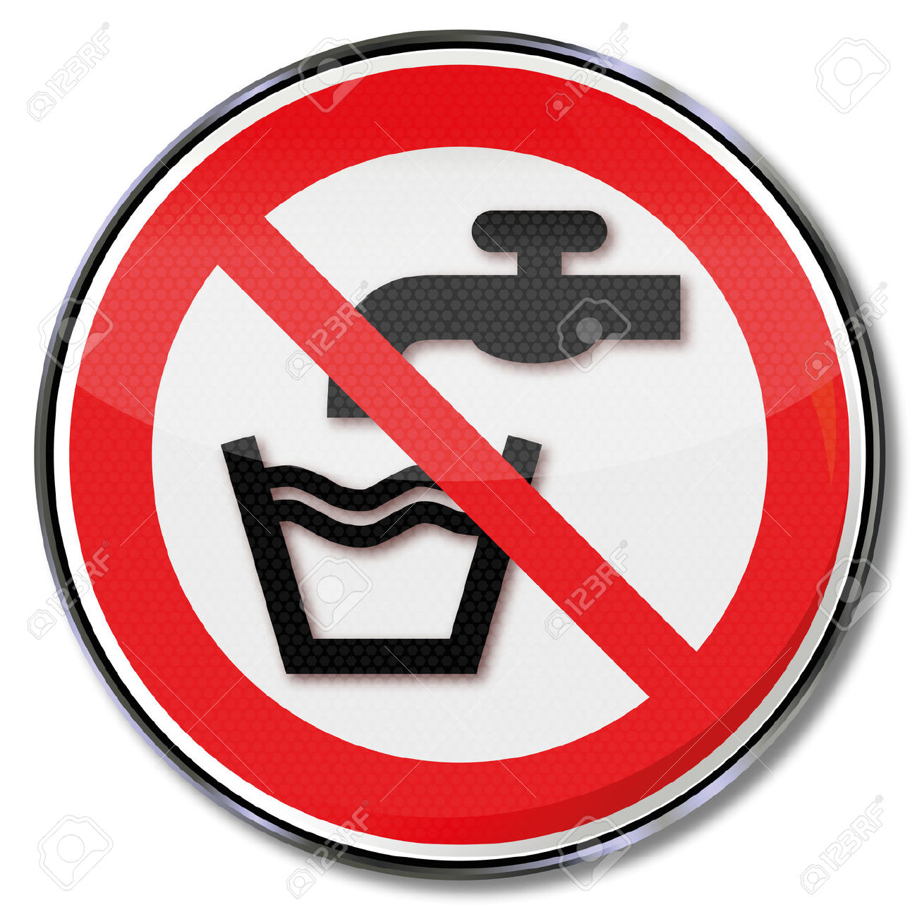 Prohibition Sign No Drinking Water Royalty Free Cliparts, Vectors.