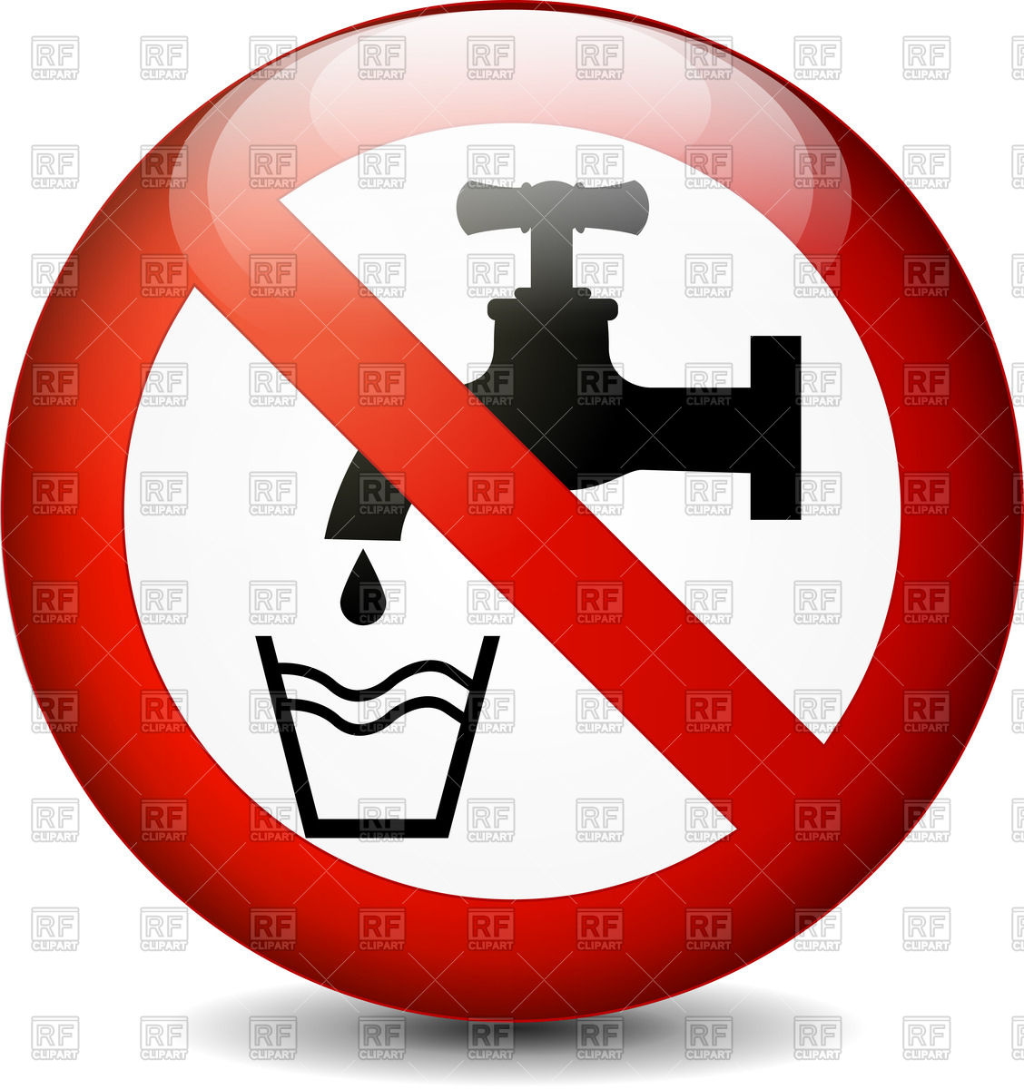 Clipart Images Of A Drinking Sink.