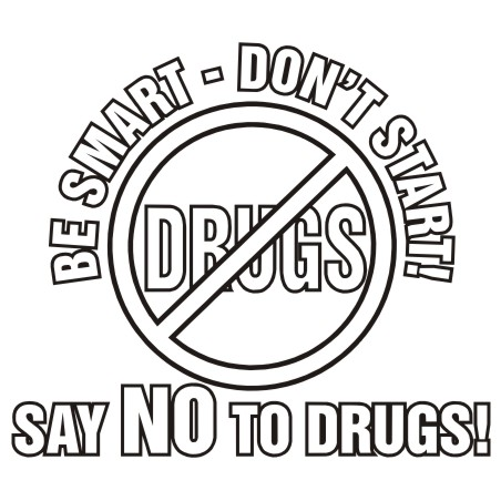 Say no drugs clipart.