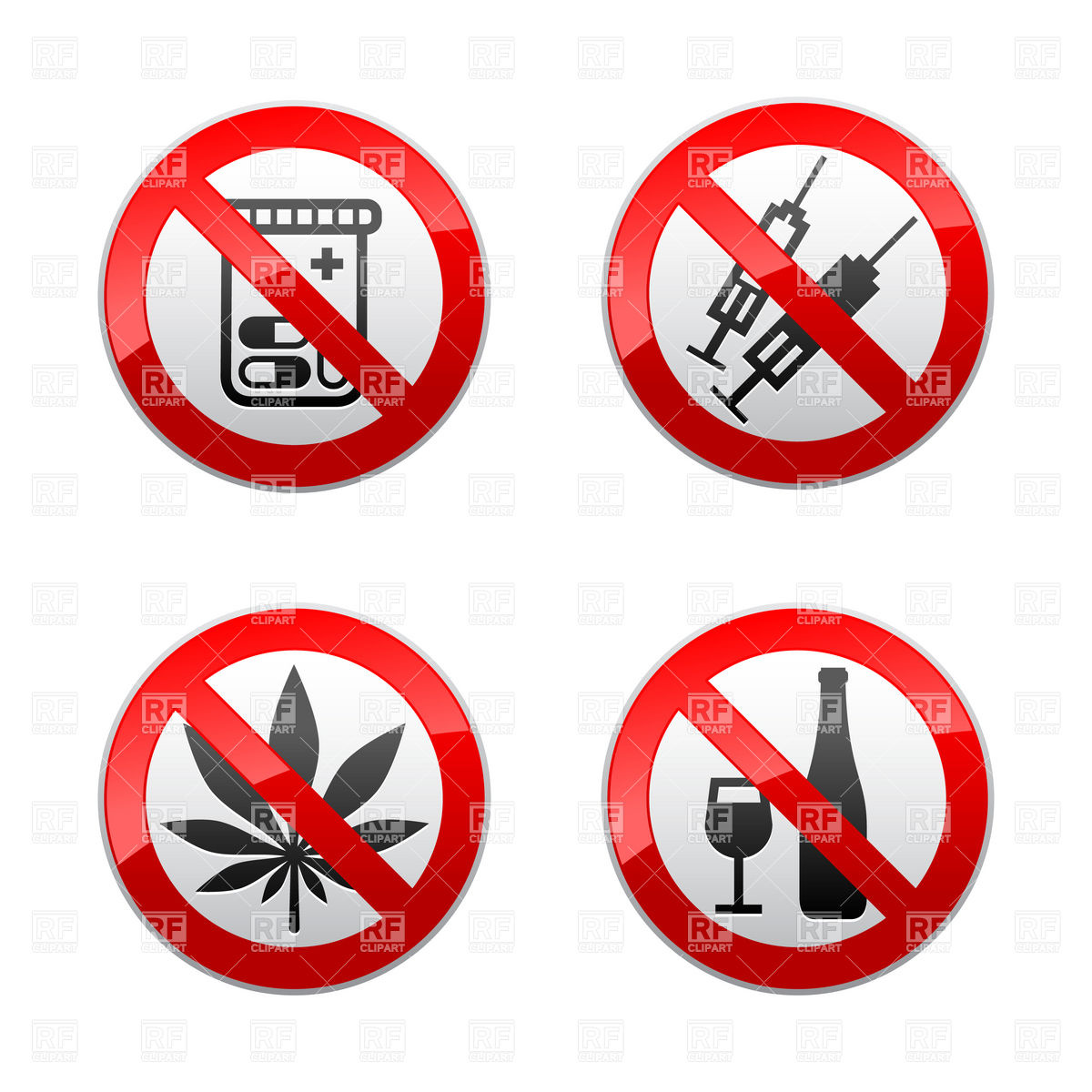 No Drugs Clipart.