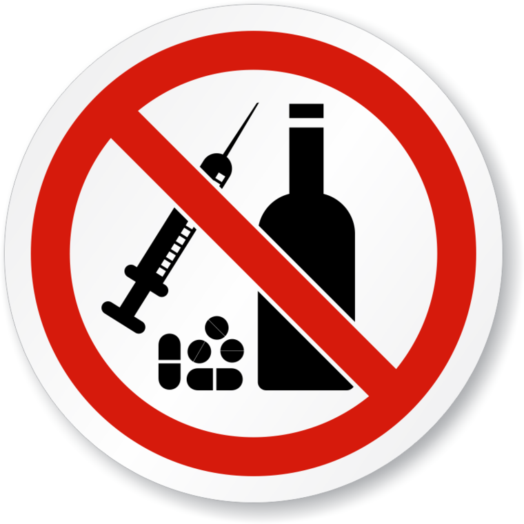 Alcohol And Drugs Clipart.