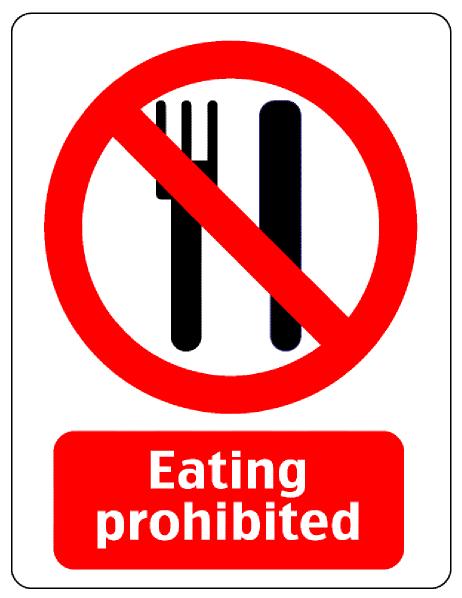 Clipart do not eat.