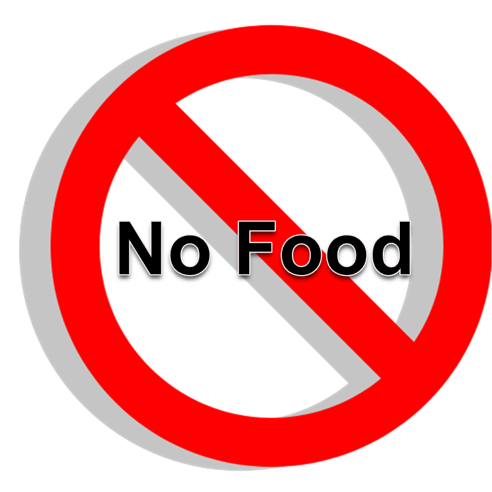 No eating and drinking clipart sings in lab rooms.