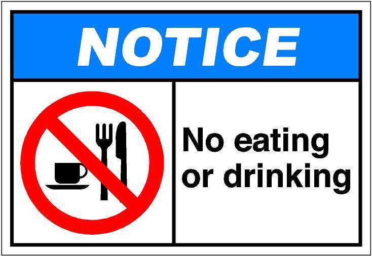 No Eating Clipart.