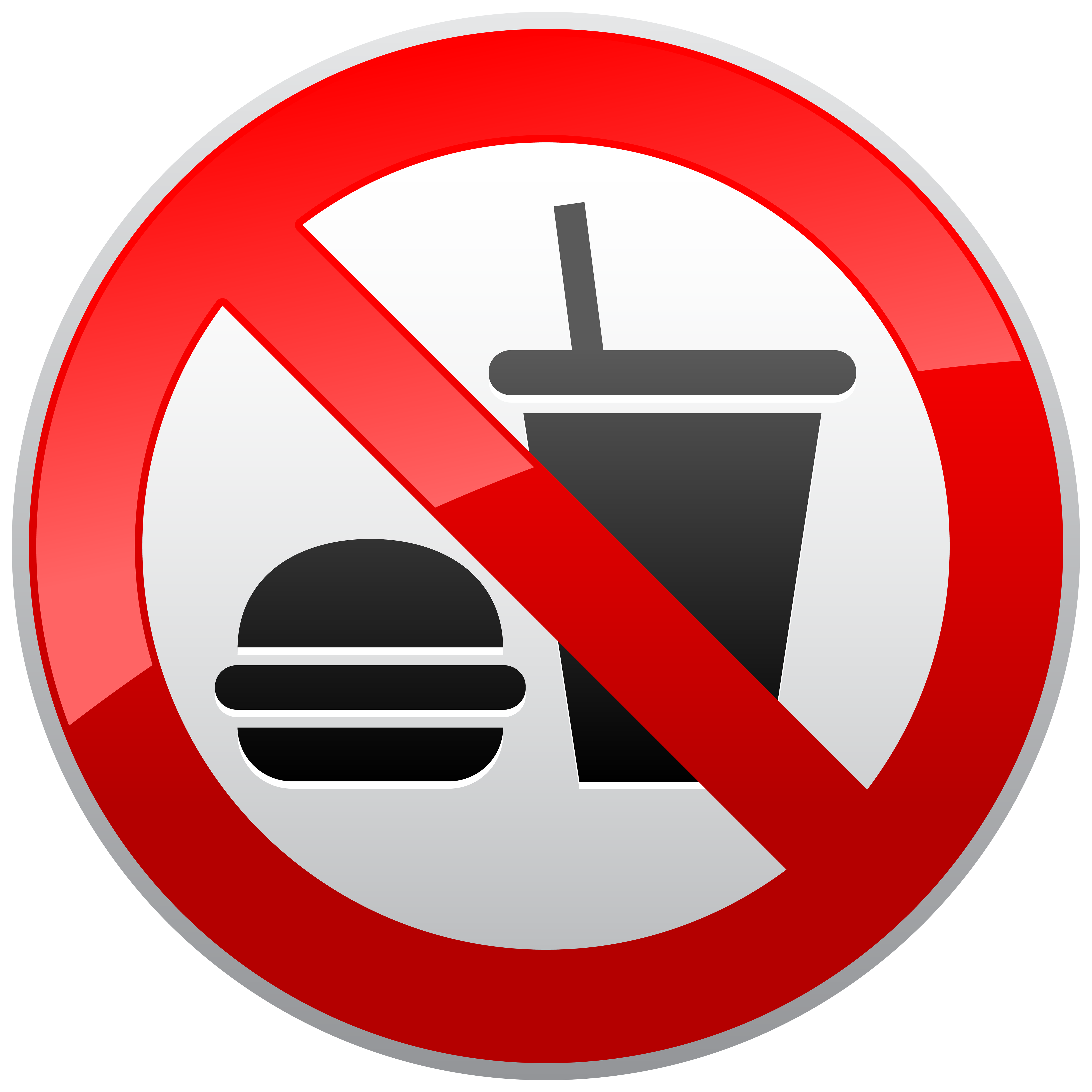 No eating in class clipart.