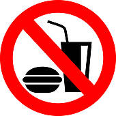 Clipart of No eating and drinking sign k5015411.