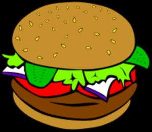 Hamburger clipart no cheese.
