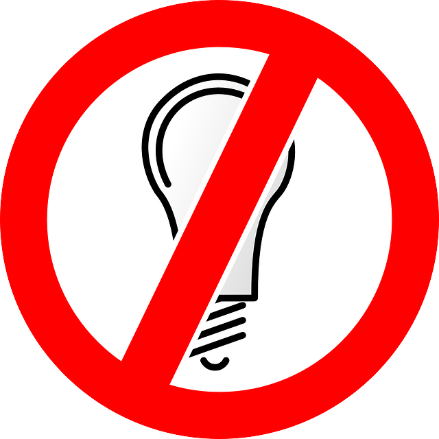 No Electricity Clipart.