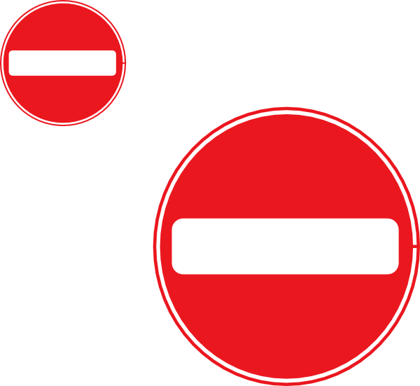 Two No Entry Signs Clip Art at Clker.com.