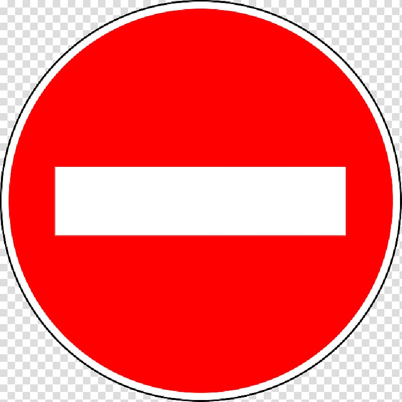 No entry sign, No Entry Traffic Sign transparent background.