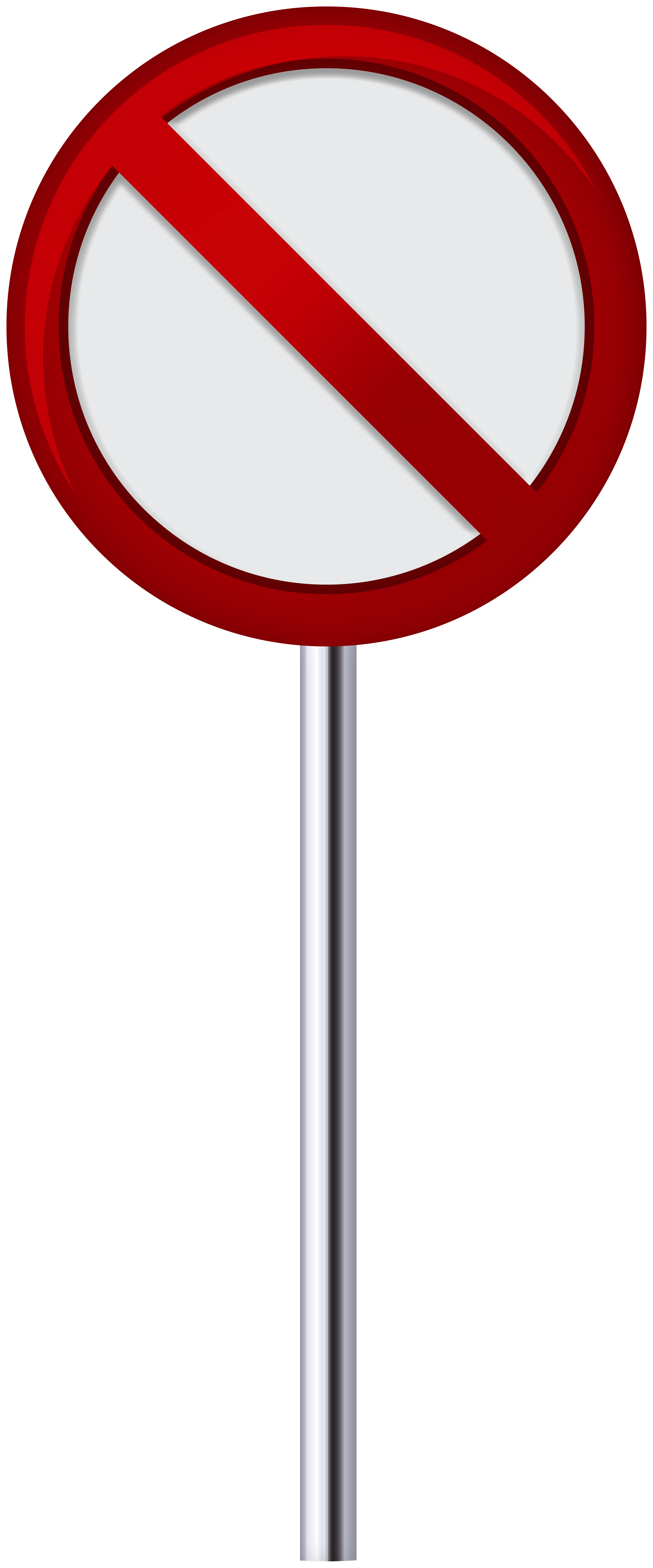 No Entry Traffic Sign PNG Clip Art.