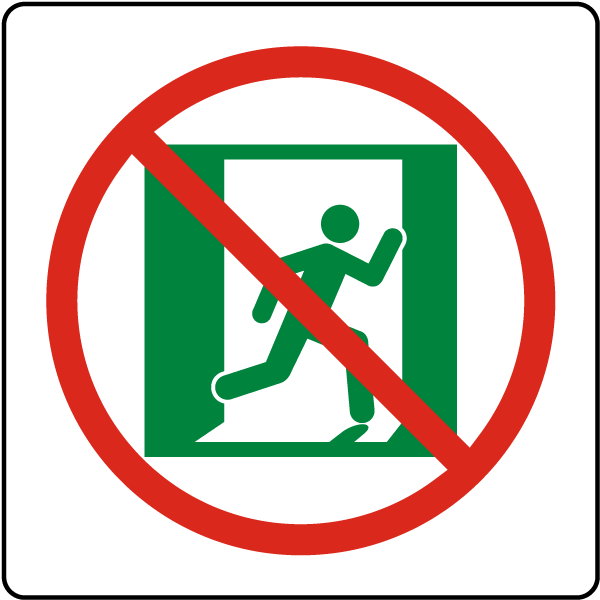 Collection of Exit sign clipart.