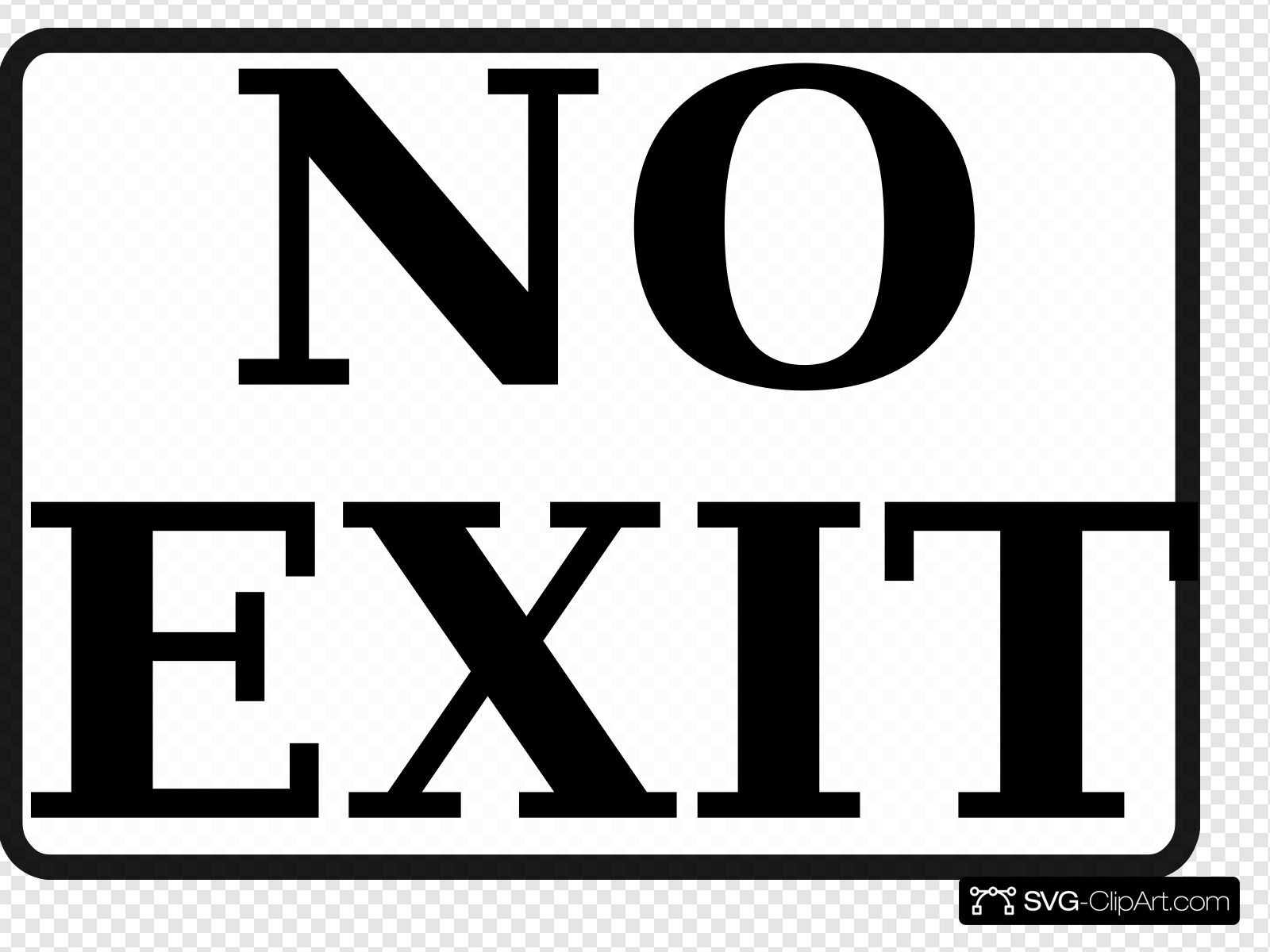No Exit Sign 2 Clip art, Icon and SVG.