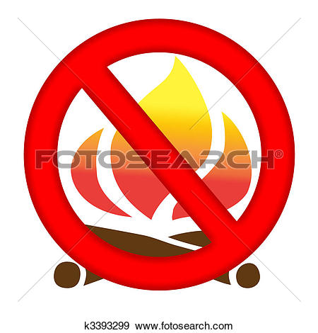 Clipart of forest fire warning sign vector k5551985.