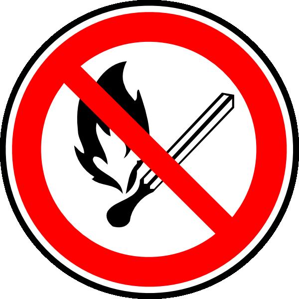 No Fire Or Flames Allowed Clip Art at Clker.com.