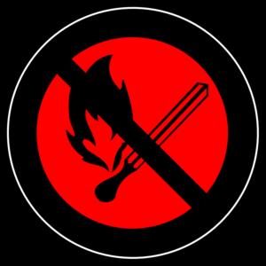 No Fire Logo 2 Clip Art at Clker.com.