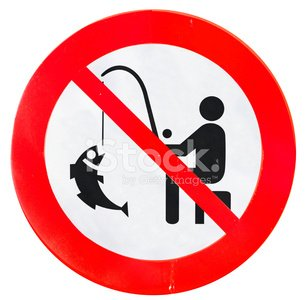 no fishing Clipart Image.