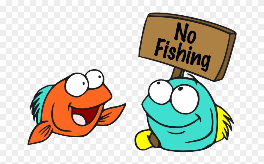 No Fishing Sign Cartoon Clipart (#1763428).