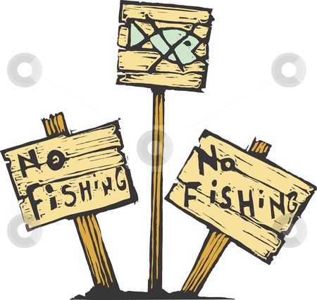 No Fishing stock vector.