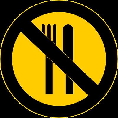 No Food Clipart.