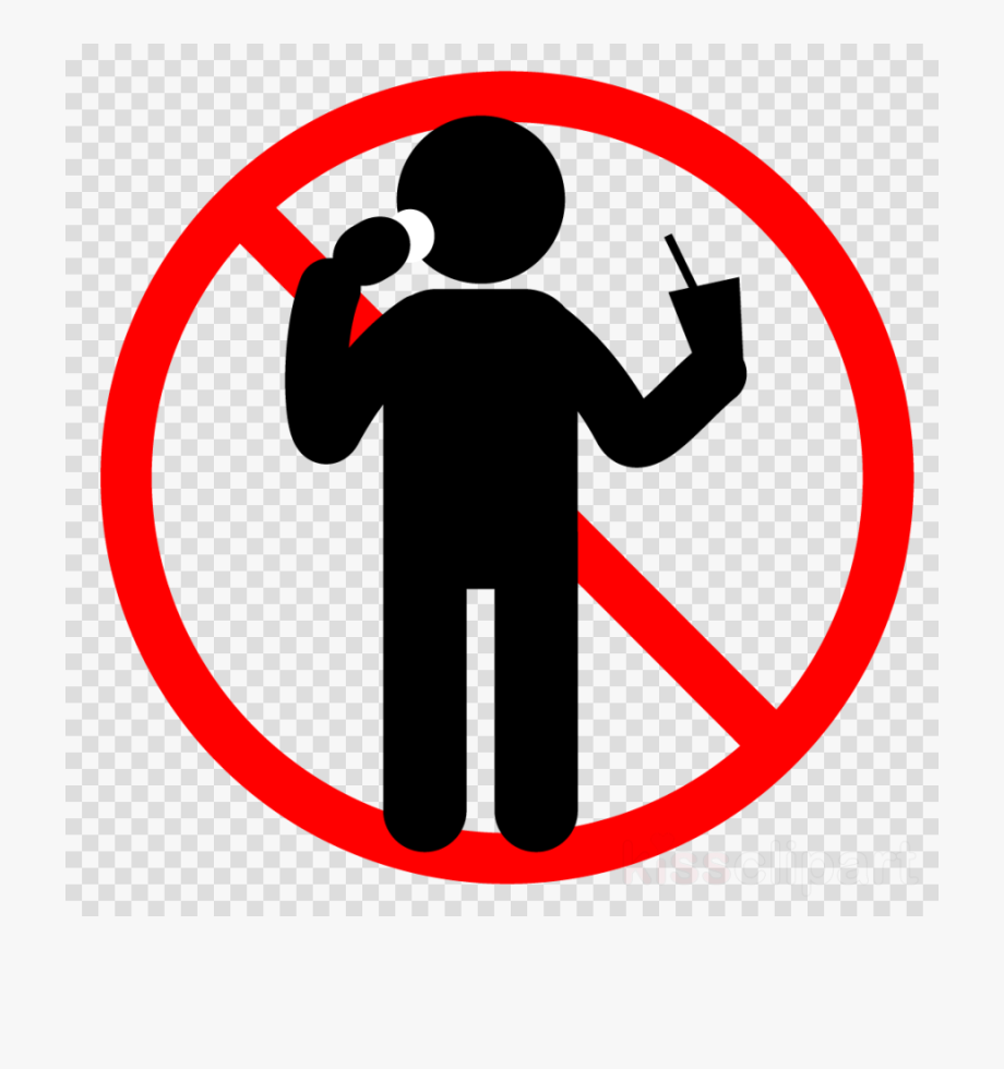 No Food Or Drinks Allowed Clip Art.